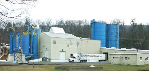 C.E.D. Process Minerals production facilities in Gore, Virginia